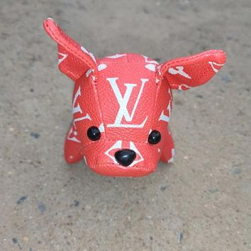 LV Louis Vuitton Fashion Cute Small Dog Bag Hanging Drop Car Key Chain Bag Accessories