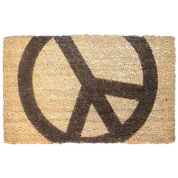 "Walmart: Peace Sign Doormat, 2'6"" x 1'6"""