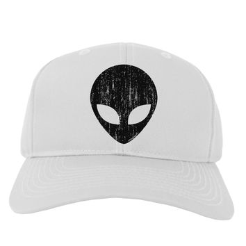 Extraterrestrial Face - Alien Distressed Adult Baseball Cap Hat by TooLoud