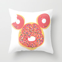 Donut Mickey Throw Pillow by thatonebrand