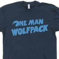 One Man Wolfpack T Shirt The Hangover Movie Shirt Zach Galifianakis Shirt