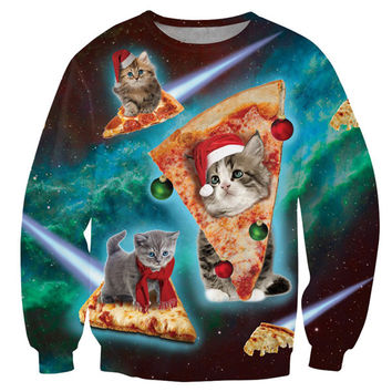 CATS LOVE PIZZA AND CHRISTMAS