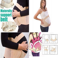 Women Safety Pregnancy Maternity Special Support Belt Back & Bump - S M L (Notice the Size Chart) = 1946739268