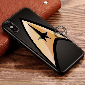Gold Logo Star Trek iPhone X 8 7 Plus 6s Cases Samsung Galaxy S8 Plus S7 edge NOTE 8 Covers #iphoneX #SamsungS8