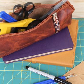 Explorer Leather Pencil Case