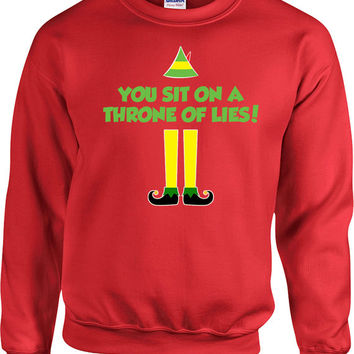 Funny Xmas Sweater Buddy The Elf Sweatshirt Christmas Jumper Holiday Pullover Christmas Gifts Elf Clothing Xmas Clothes X-Mas Hoodie - SA697