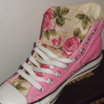 Spring Floral Converse Shoes