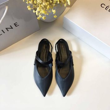 CELINE Celin 2018 spring new star net red with the same single shoes deep blue