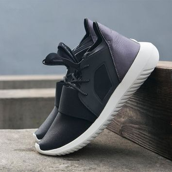 """Adidas"" Tubular Defiant Women Men Grey Casual Sports Shoes"