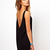 American Apparel Low Back Tank Dress at asos.com