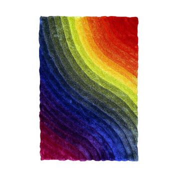 Sintechno Inc Rainbow Area Rug & Reviews | Wayfair