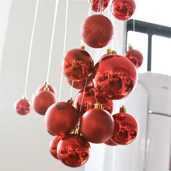 ISHOWTIENDA New 12PCS 30mm Christmas Xmas Tree Ball Bauble Hanging Home Party Ornament Decor Wedding Hanging Ball Decoration