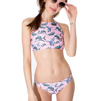 Shark Print Cross Back Bikini