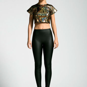 Gold Holographic Crop Top Imported from The Future