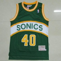 NBA Seattle Supersonics #40 Shawn Kemp Swingman Jersey