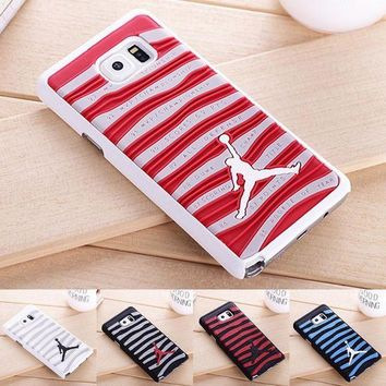 PEAP78W New Arrival 3D Air Jordan Sports Shoe Sole PVC Rubber Stripe Case for Samsung Galaxy Note5 Jumpman Phone Back Cover For N9200