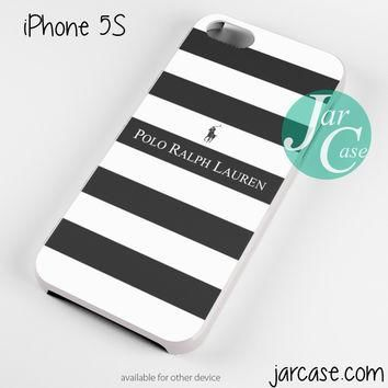Ralph Lauren black white strips Phone case for iPhone 4/4s/5/5c/5s/6/6 plus