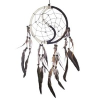 "Dream Catcher ~ Handmade Traditional Yin & Yang 6.5"" Diameter & 16"" Long!"