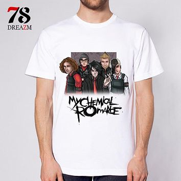 My Chemical Romance male t-shirt Summer Fashion Design T Shirt Men's High Quality Custom Printed Tops Tees
