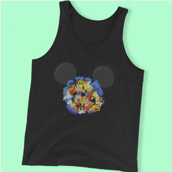 Disney Silhouettes Mickey Mouse And Frieds Men'S Tank Top