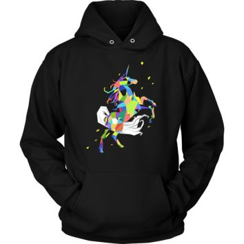 Graphic Rainbow Colored Unicorn Time to be a Unicorn Hoodie