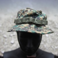 US Marine Marpat Boonie Soft Cover Hat with Chin Strap