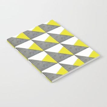 Gray Yellow White Triangles Pattern by ARTbyJWP