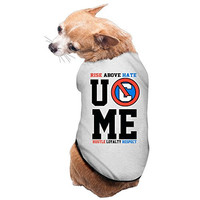 John Cena U C Me Rise Above Hate Dog Costume Cute Pet Clothes