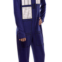 TARDIS Footie Union Suit - Blue,