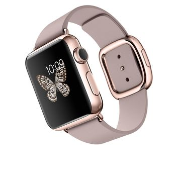 Apple Watch Edition - 38mm 18-Karat Rose Gold Case with Rose Gray Modern Buckle
