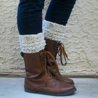 Knitted Fashion Boot Cuffs- Leg Warmers- Womens Boot Socks- Available in S/M and L sizes