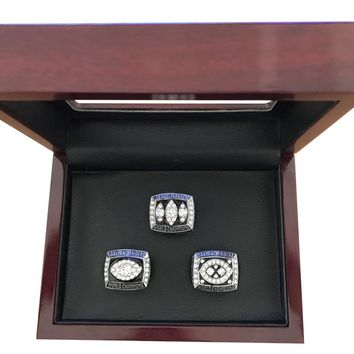 Sport Jewelry Drop shipping 3pcs 1976 /1980/1983 Raiders championship rings Custom football ring drop shipping Size 11