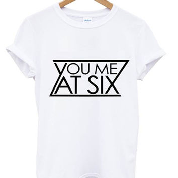 you me at six t shirt take off your colours music indie rock band tour funny girls mens womens all colours