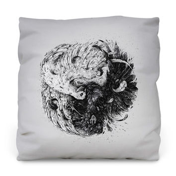 Natures Battle Throw Pillow