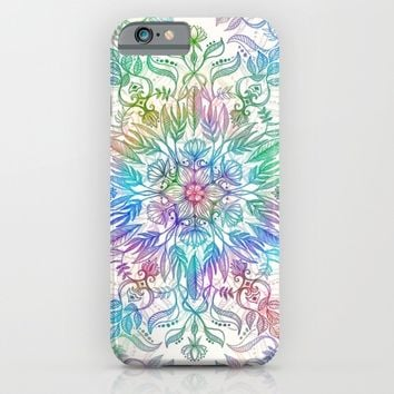 Nature Mandala in Rainbow Hues iPhone & iPod Case by Micklyn