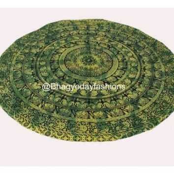 Hippie Mandala Round Tapestry Indian Wall Hanging