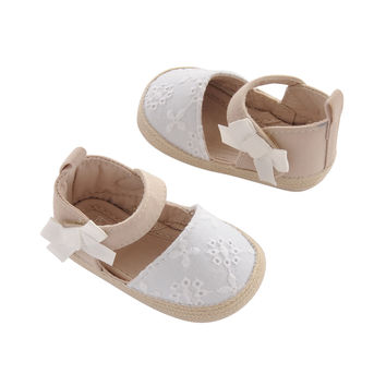 Carter's Baby Girl Espadrille White/Crochet Newborn Crib Shoe Cream Infant (0-12 Months) Newborn Regular US Infant '