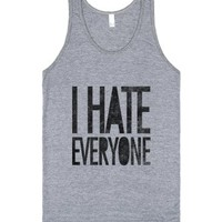 I Hate Everyone (tank)-Unisex Athletic Grey Tank