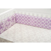 Dena  Bloom Baby Girl Reversible Crib Bumper