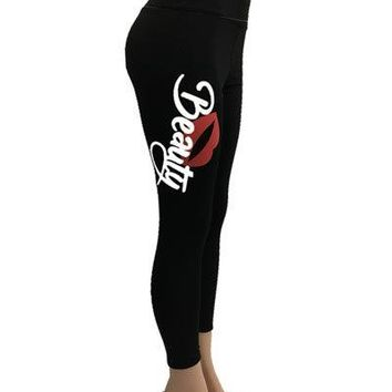 Beauty Lip Women's Yoga Pants Activewear Pants Stretch Leggings
