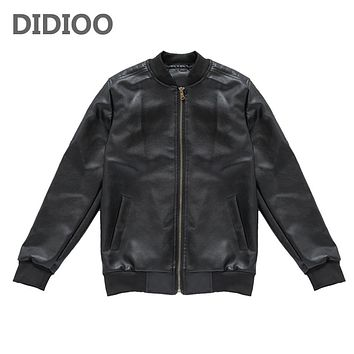 Kids Pu Jackets For Boys Clothes Casual Faux Leather Coats School Boys Outerwear  Autumn Children Jackets