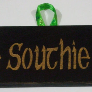 Rustic Southie Sign, Ornament, Gift Topper, Irish Sign, Shamrocks,