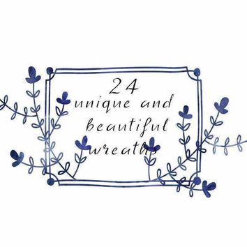 Custom Floral Wreath and Boarder Clipart Pack
