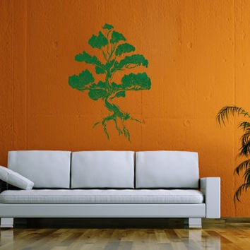 ik20 Wall Decal Sticker Room Decor Wall Art Mural Japanese bonsai tree Buddha Omonia small tree interior bedroom living room hall