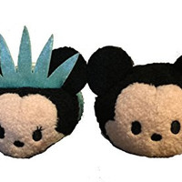 Disney New York Exclusive I Love NY Mickey Statue Of Liberty Minnie Mouse Tsum Tsum Set