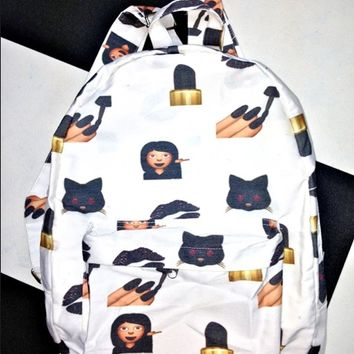 SWEET LORD O'MIGHTY! THE BAD BISH EMOJI BACKPACK