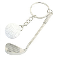 Golf Ball and Club Key Chain