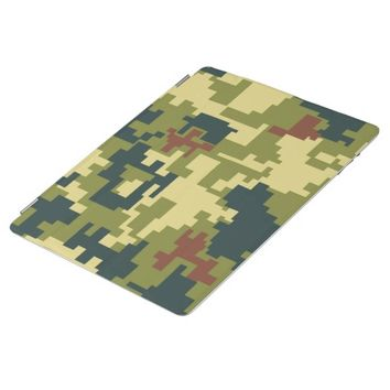 Pretty Green Camouflage Pattern iPad 2/3/4 Cover
