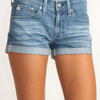 AG Adriano Goldschmied Pixie shorts in 17yr dust: Blueheavenboutique.com