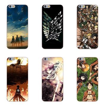 Cool Attack on Titan For Xiaomi Redmi 5 4A 3 3S Pro Mi4 Mi4i Mi5 Mi5S Mi Max Mix 2 Note 3 4 Plus Soft Print Phone Cover Case  Anime AT_90_11